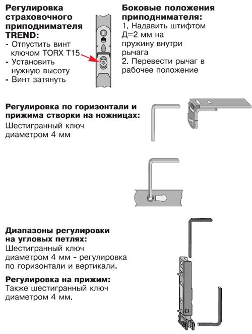 Регулировка по высоте раздвижных пвх балконных рам..